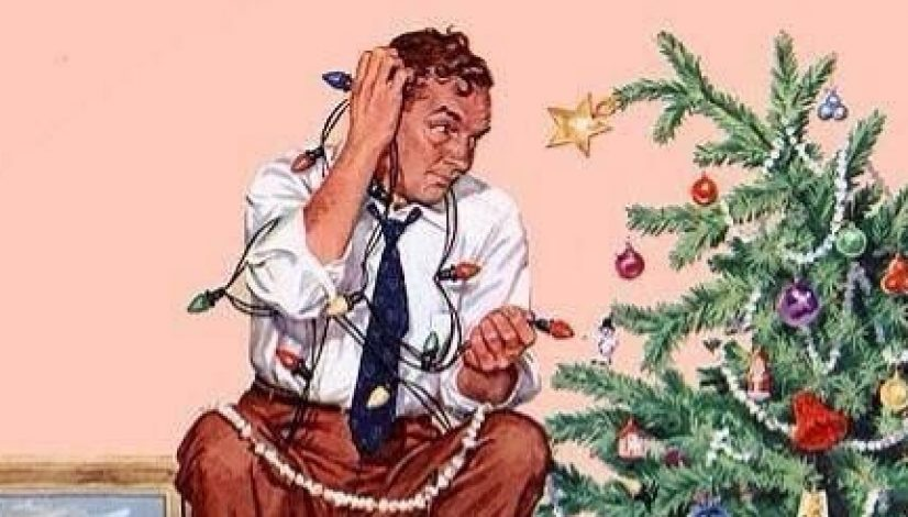 norman-rockwell-tree-decorating1 - My Norman Rockwell Life...or Not... - Melanie Connell MA LPC